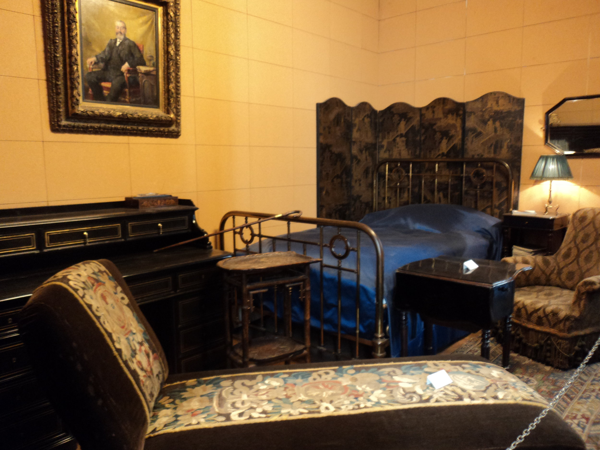 Marcel Proust's reconstructed bedroom in the Musée Carnavalet, Paris. (My photo, ca. 2011.)