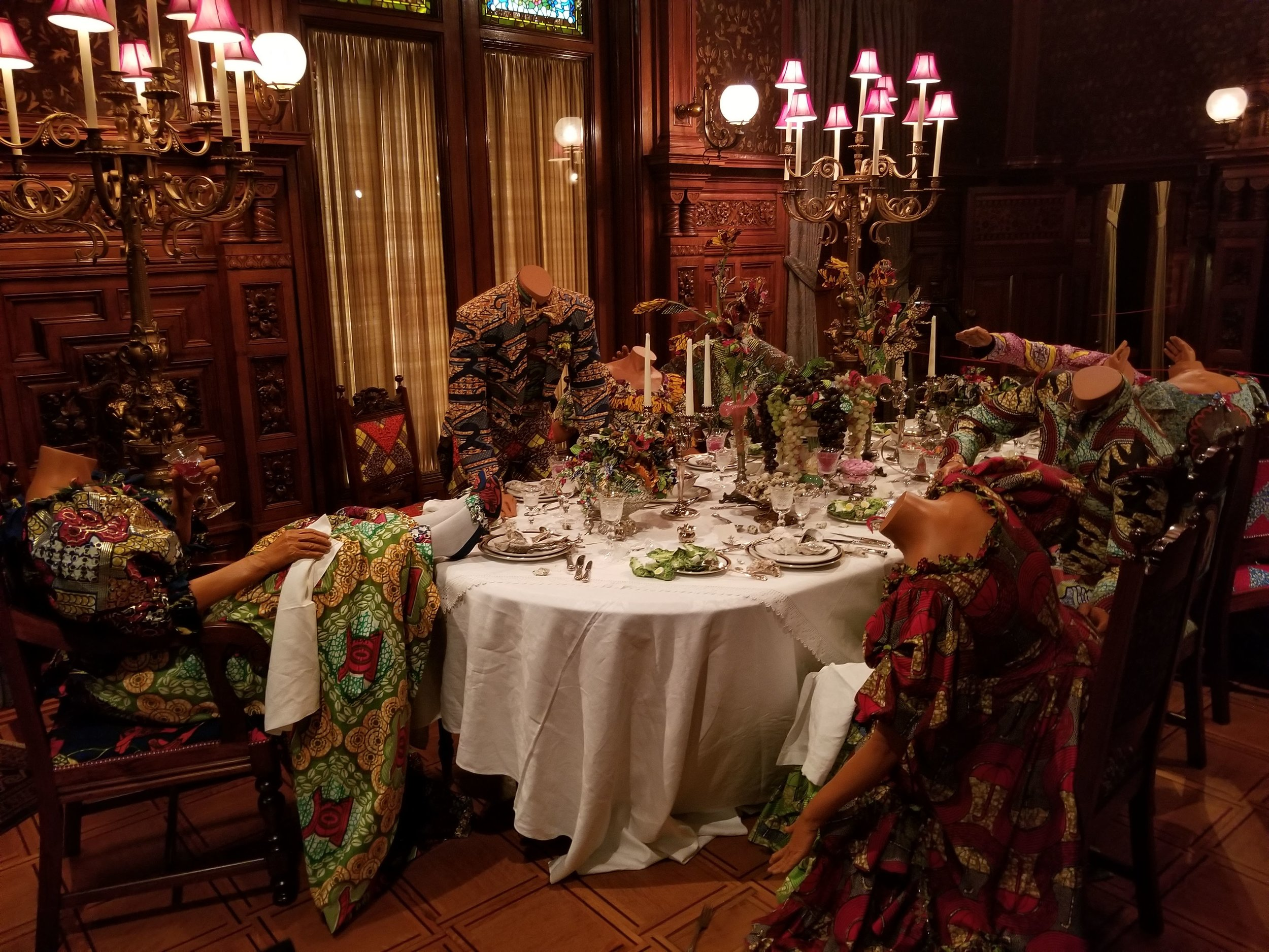 Party Time: Reimagine America  (2009) installed in the Driehaus Museum. (My photo.)