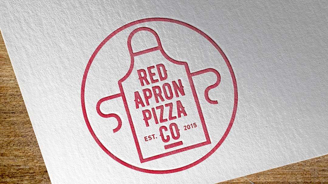 Red Apron Pizza Company   identity