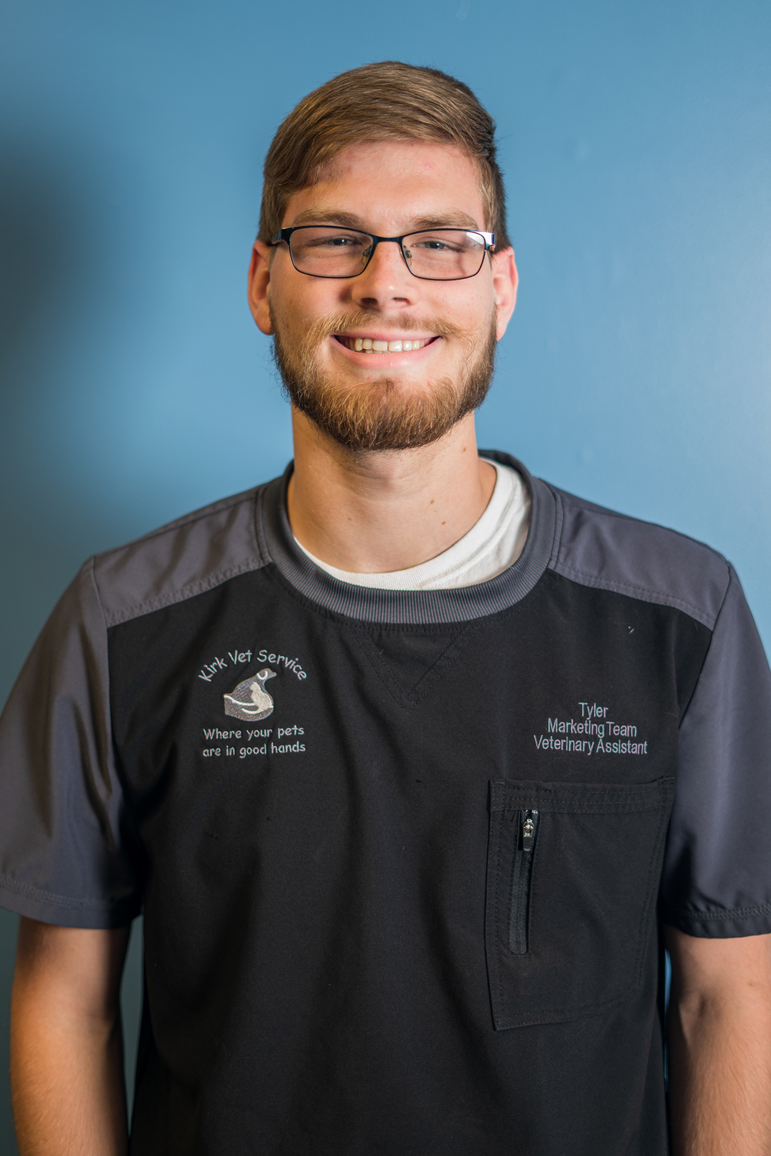 Tyler Kirk - VETERINARY ASSISTANTTyler is the son of Dr. Kirk. Over the years he has spent a lot of time at the clinic. Tyler joined our team as an employee in May 2018. He spends his summers working as a vet assistant at Kirk Vet Service as well as riding along with large animal veterinarians. During the school year, he works as a licensed pharmacy technician at Walmart in Lafayette. He studies at Purdue University, where he is majoring in Biology. Tyler plans to apply into the Purdue School of Veterinary Medicine in 2020. He would love to join his mother in her small animal practice and add in large animal service.