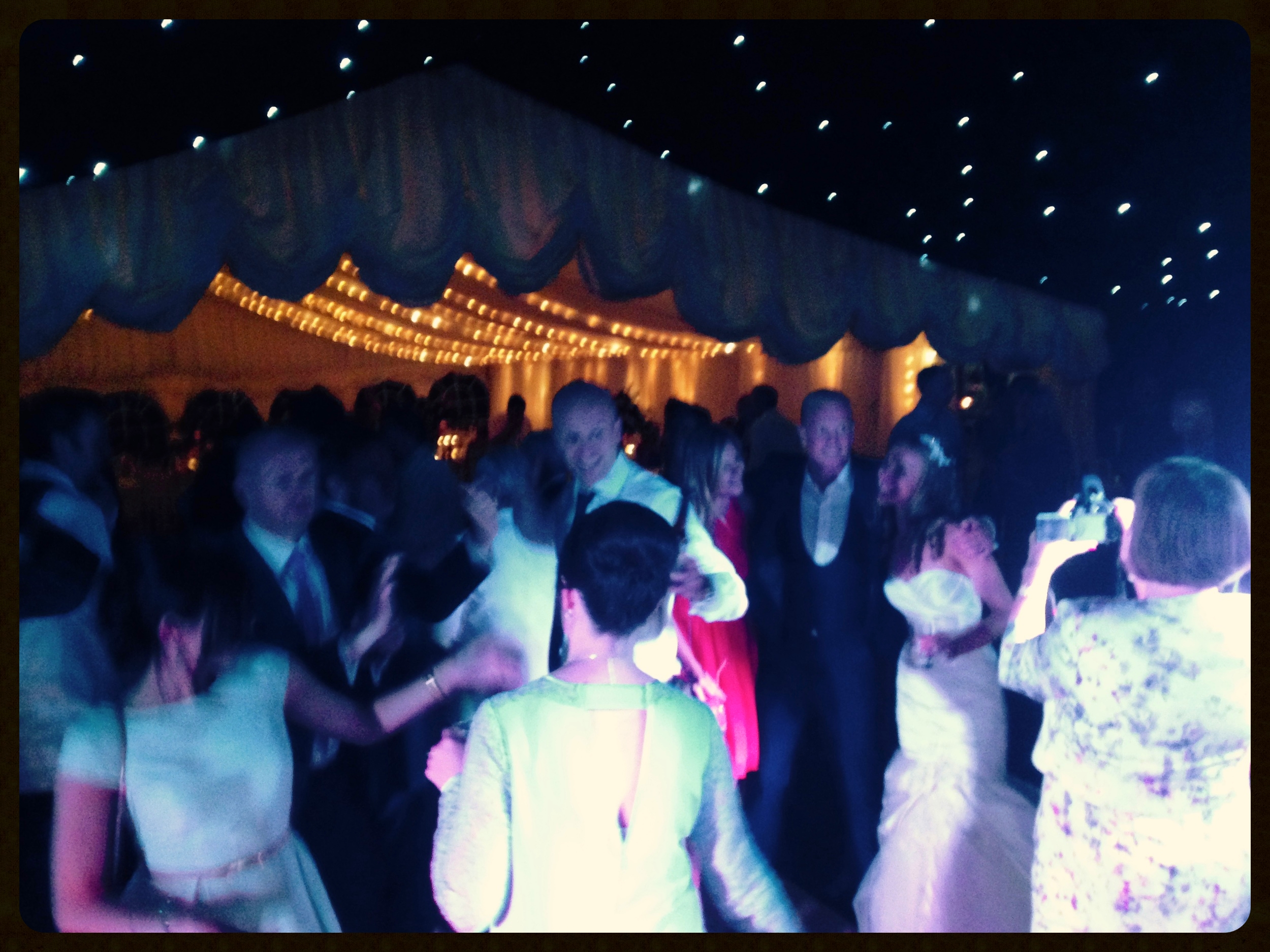 CandyStripes live band rock the dance floor! Kate & David's wedding, Essex weddings, Fryerning