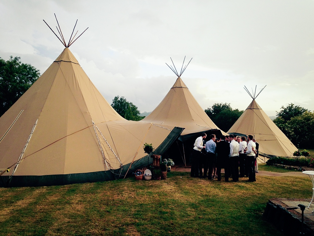 Giant Teepee Tents! Kent Wedding