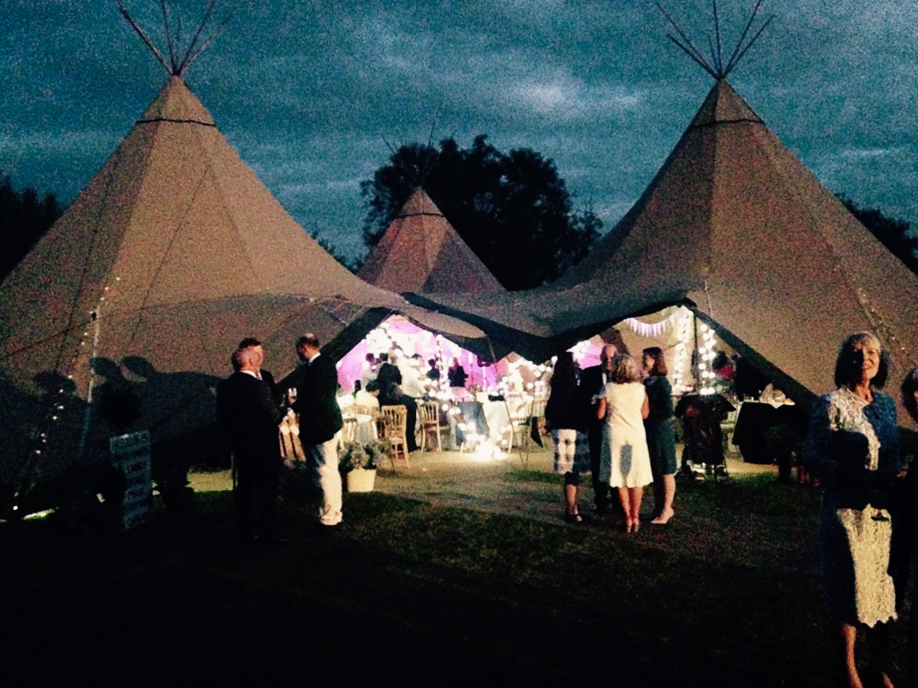 Teepees at Night!