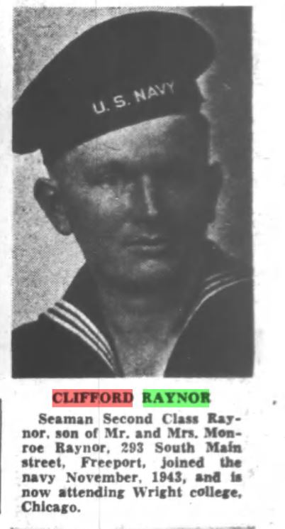 Dick Raynor joined the Navy in November 1943.