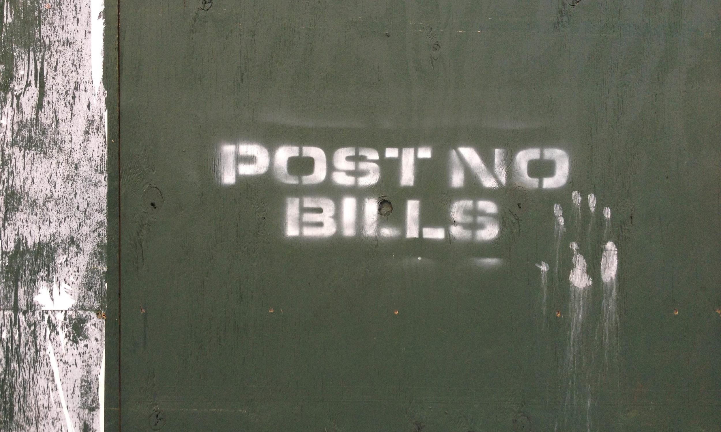 "4.Solo Exhibit ""POST NO BILLS"""