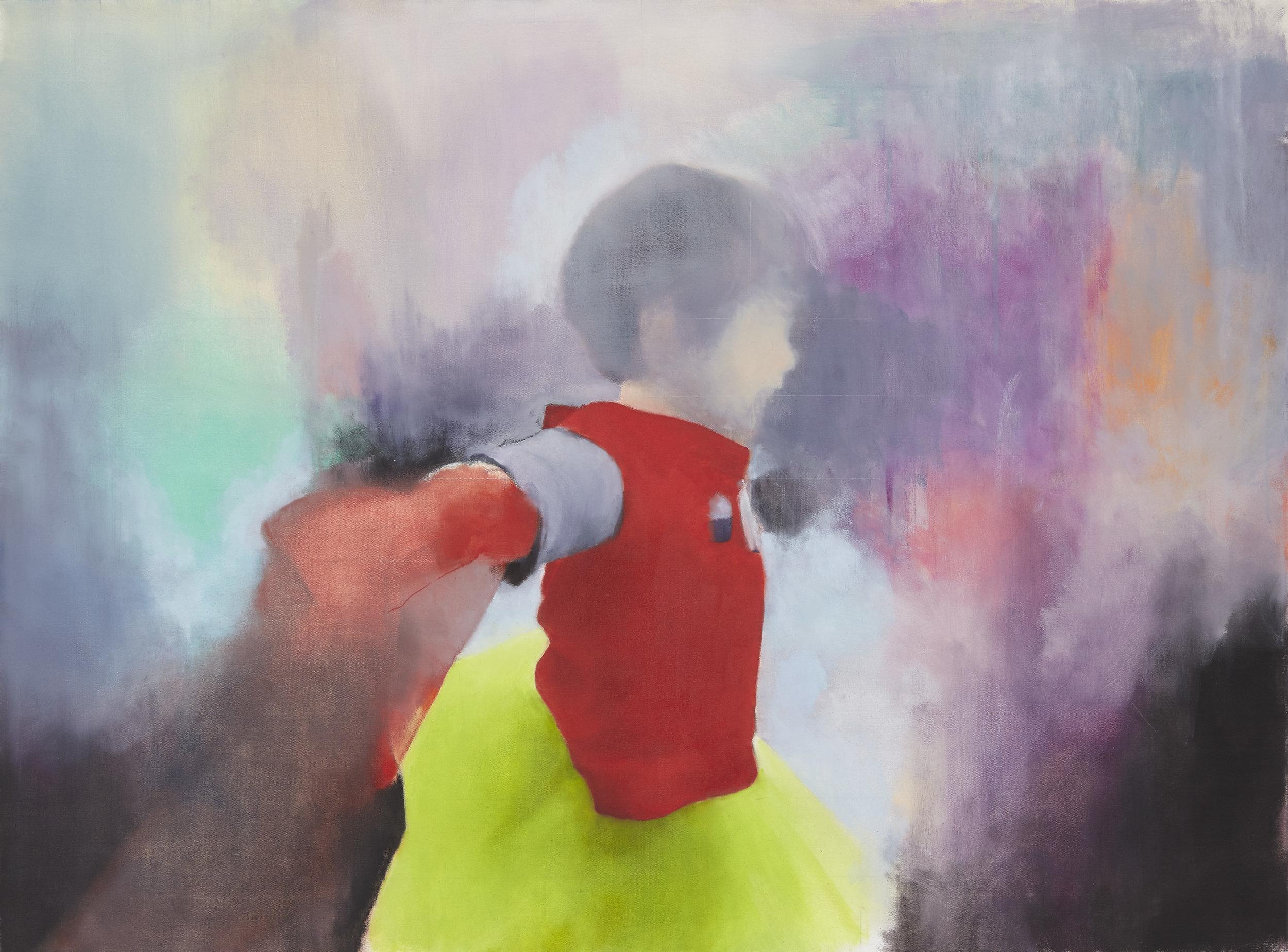 """Gaspare""  46""x34"" Oil on Canvas, 2016"