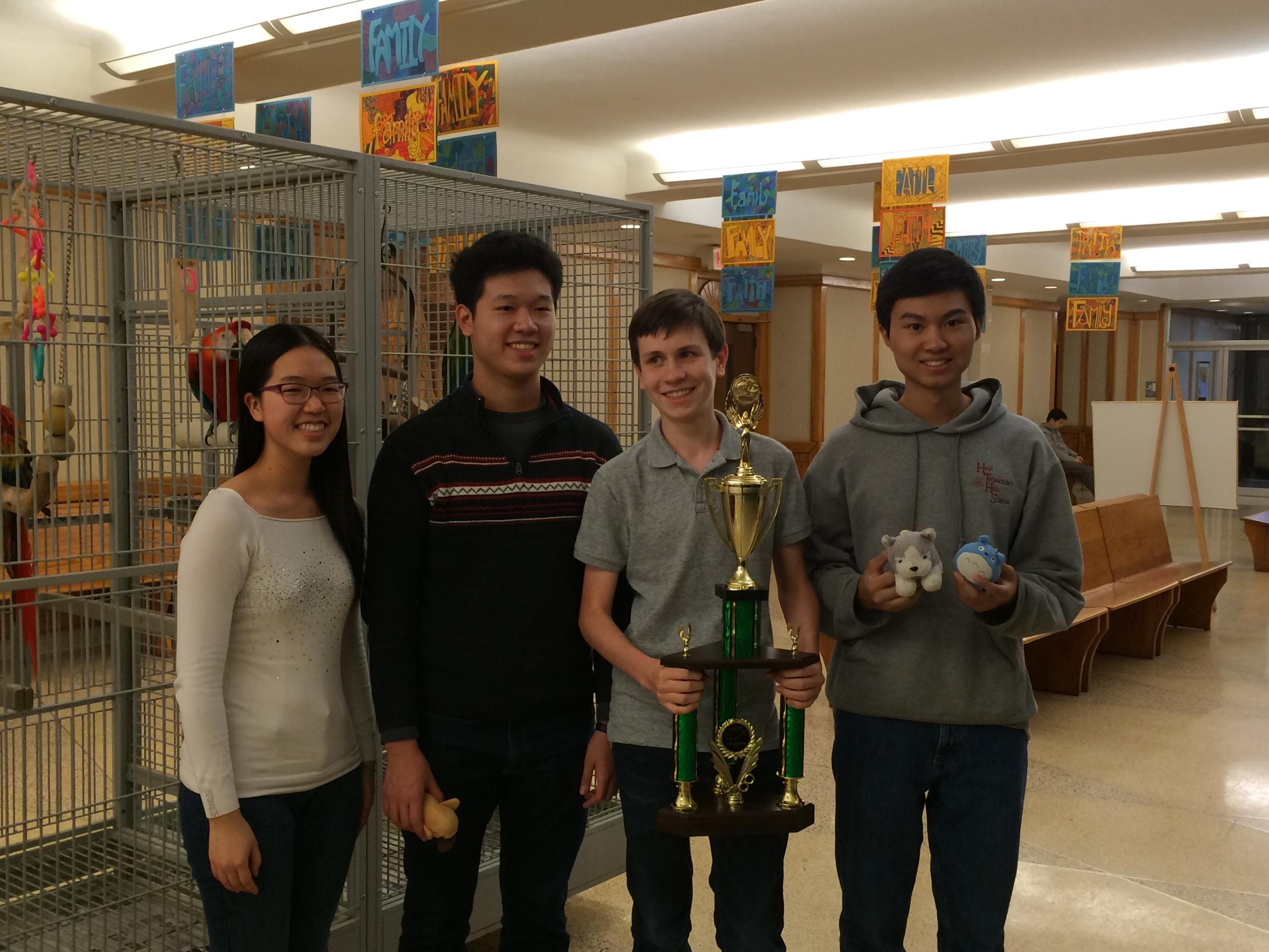 "Academic ""A"" Team Members: Kathryn Jiang, Samuel Kao, Douglas Simons, and Andrew Huang"