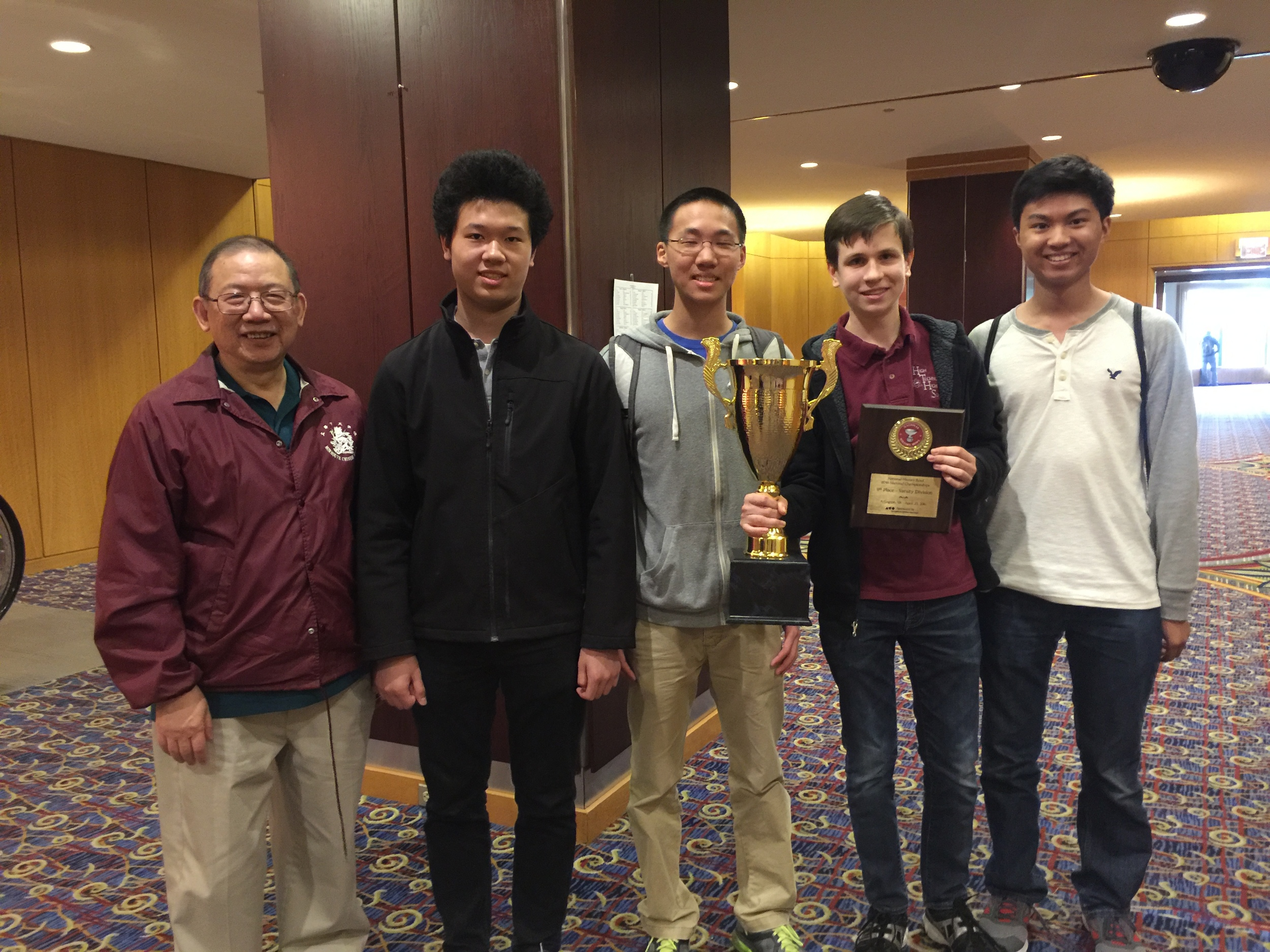 From Left to Right: Dr. Eng, Samuel Kao, Ray Zeng, Doug Simons, and Andrew Huang.