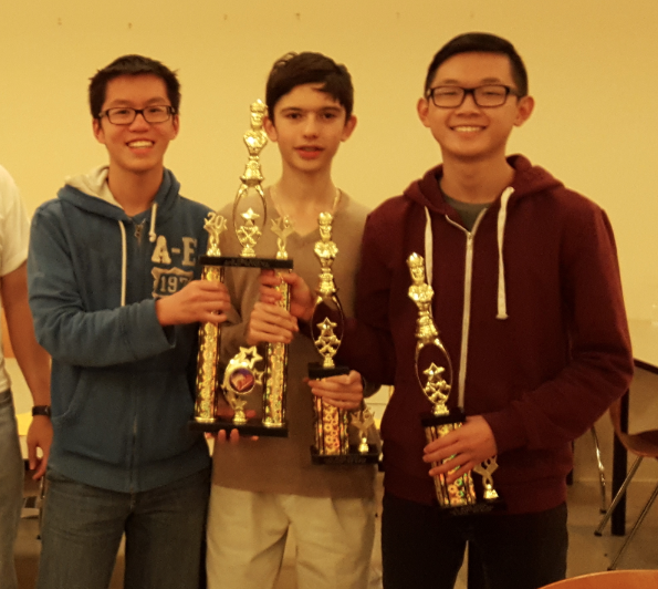 Nelson Lin, Andrew Mascillaro, and Eric Chai won the 3 rd  Place Team Award for Grade 10.