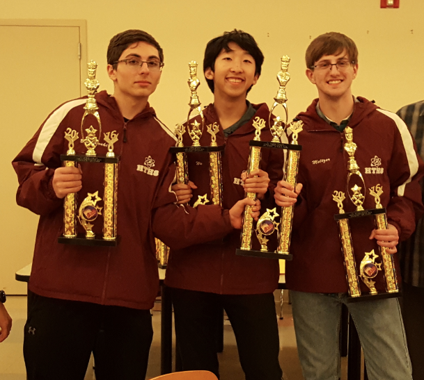 Jared  Braycewski,  Christopher Wu, and Philip Meltzer won the 1st Place Team Award for 12 th  Grade.