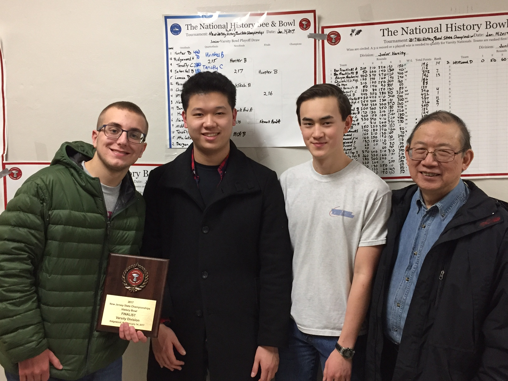 From Left to right: Darren Petrosino, Samuel Kao, Karl Roush, and Dr. Eng.   Photo by David Roush