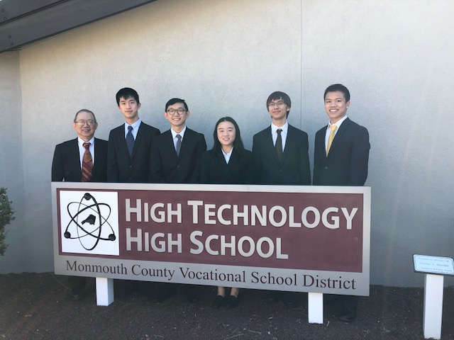 Left to Right: Coach Dr. Eng, Jason Yan, Eric Chai, Emily Jiang, Gustav Hansen, and Kyle Lui
