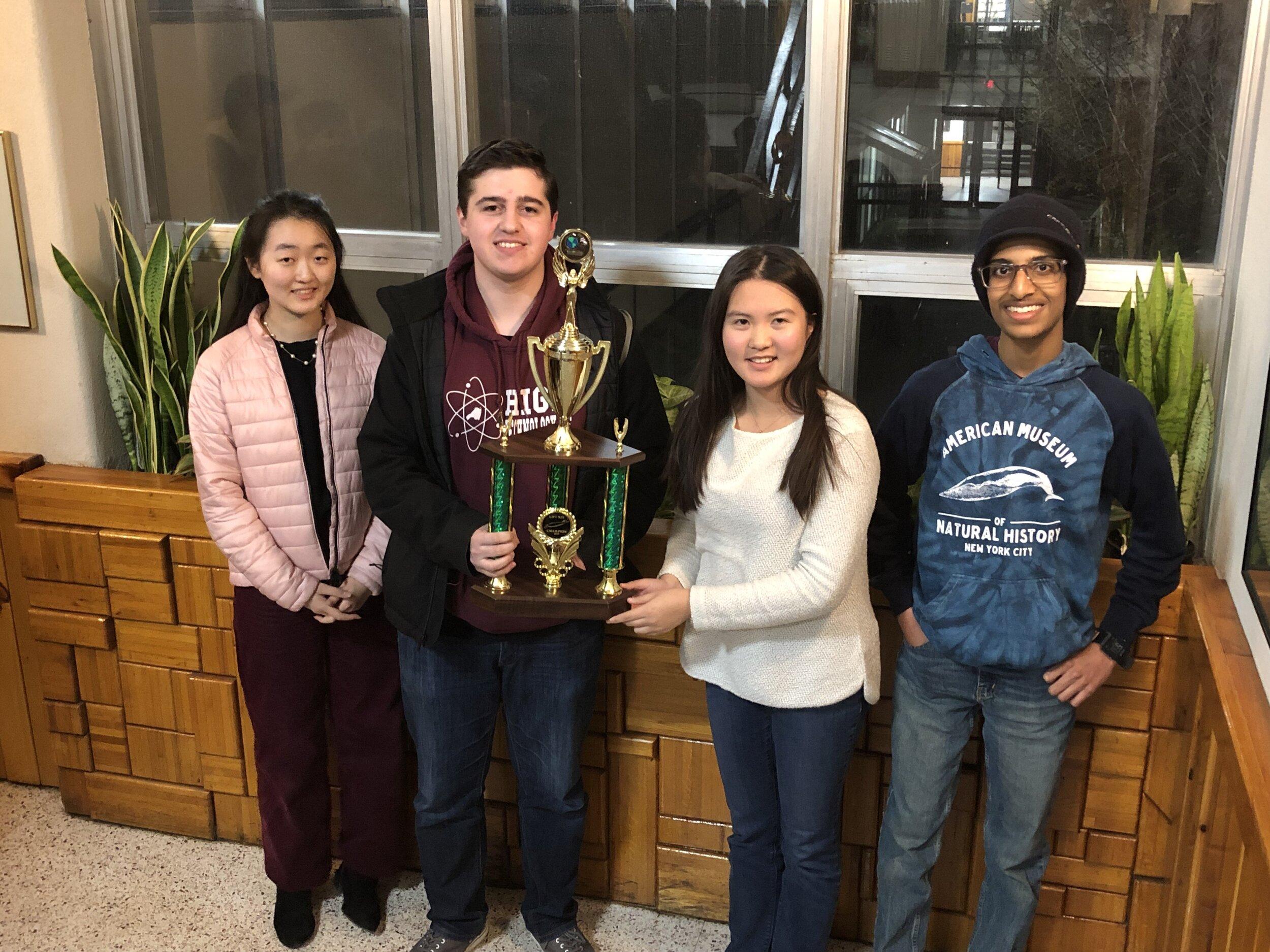 High Tech A-Team: Selena Liu, Frank Grabowski, Karen Li, and Deepak Gopalakrishnan