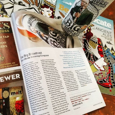 Photo of Beer Advocate article about War Horse Brewery's Big Broadcast Double IPA