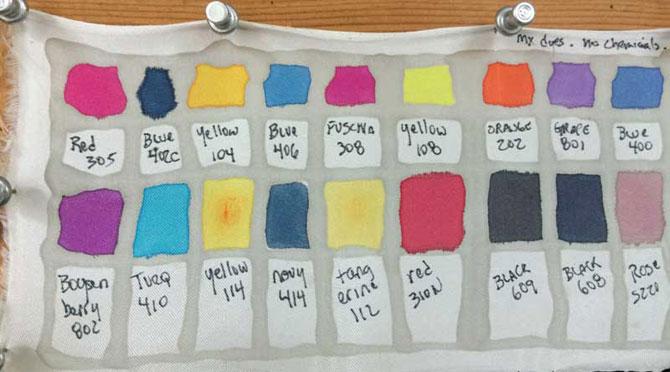 My dye palette