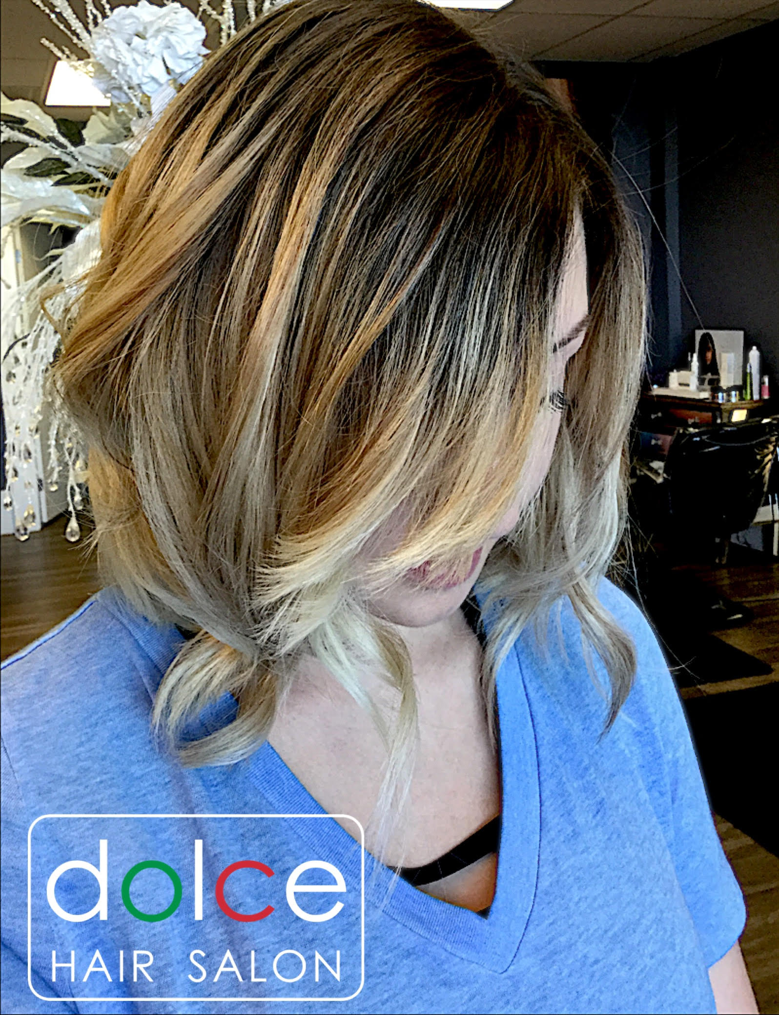 Dolce Hair Salon Pictures Playful Bob Shadow Root