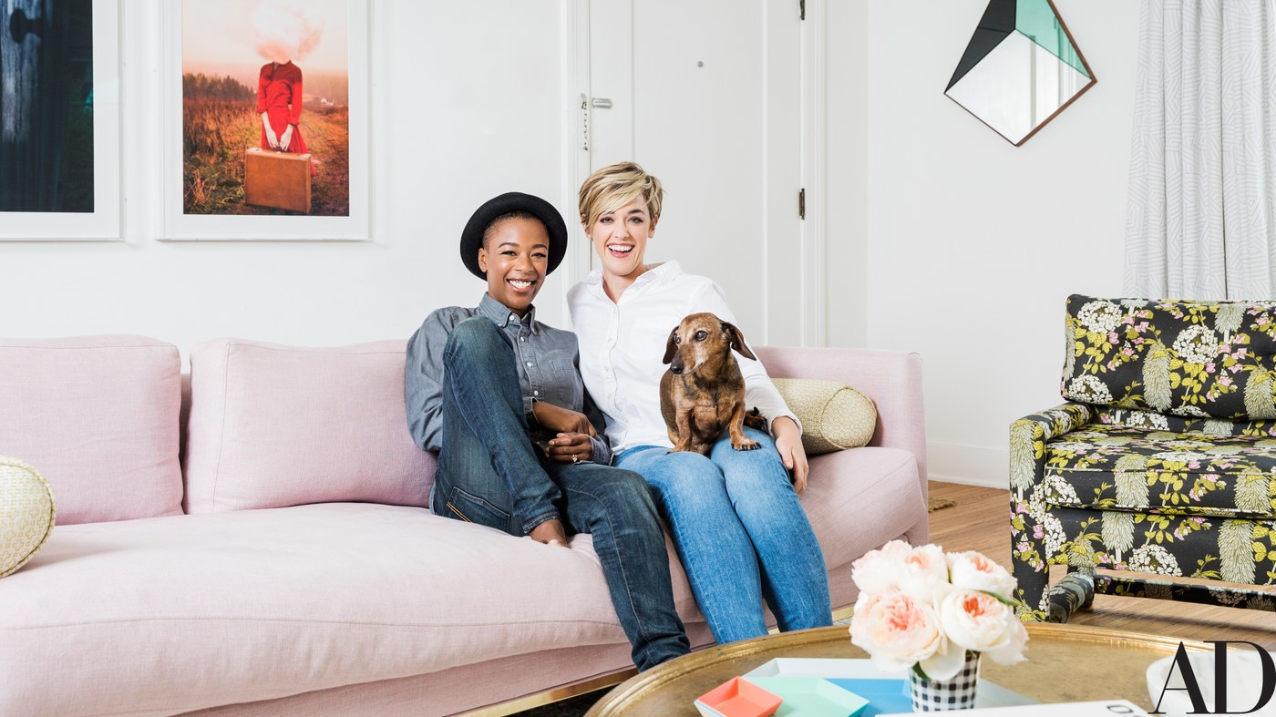 Newlyweds Samira Wiley and Lauren Morelli Take AD Inside Their First Home Together -  Text by Carson GriffithPhoto by Emily Berl   When Lauren Morelli first hired Stefani Stein, Morelli's girlfriend Samira Wiley had yet to move into her Los Angeles home with her. But according to Morelli, Wiley was