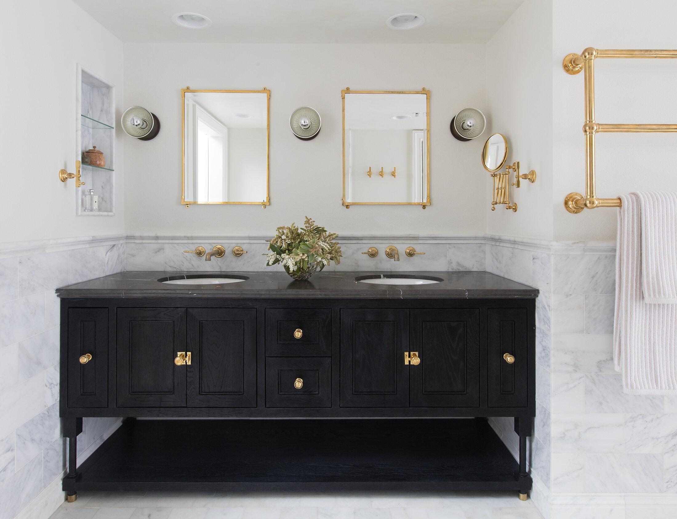 stefani stein interior design custom bath with waterworks and urban electric with blackened oak photo by stephen busken