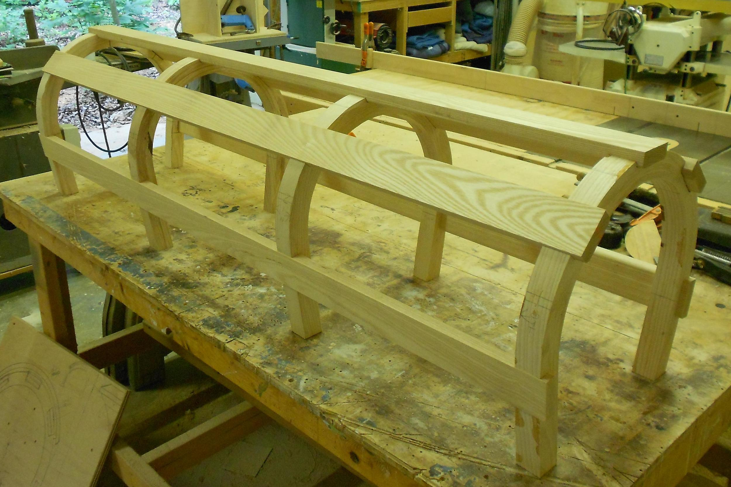 Brockport commission 15 horse shoe parts assembled ready for seat.jpg