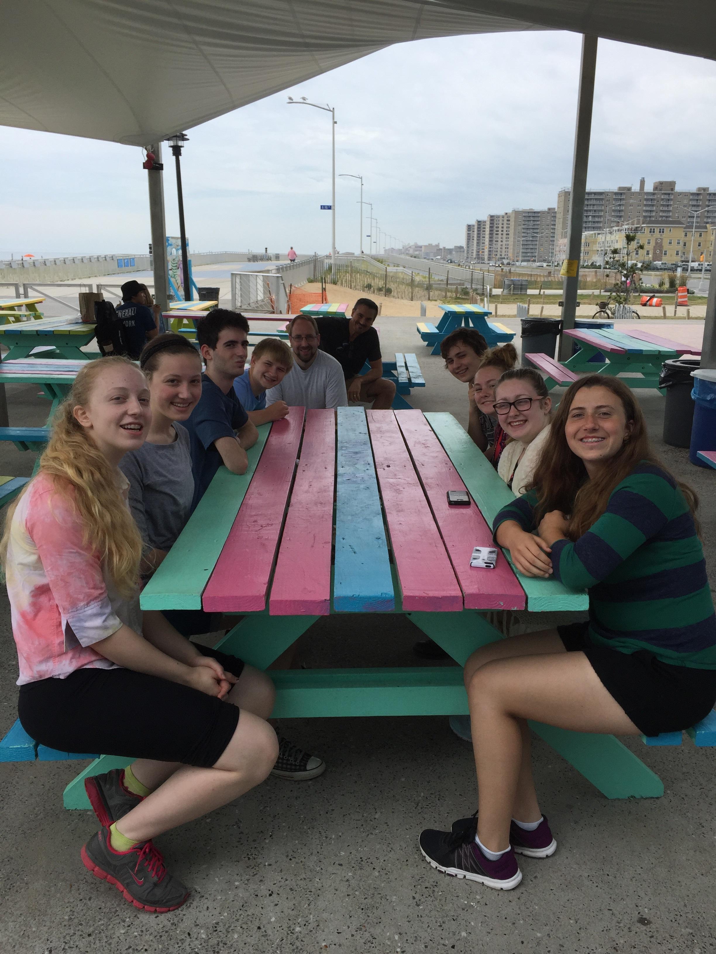 Lunch on the boardwalk