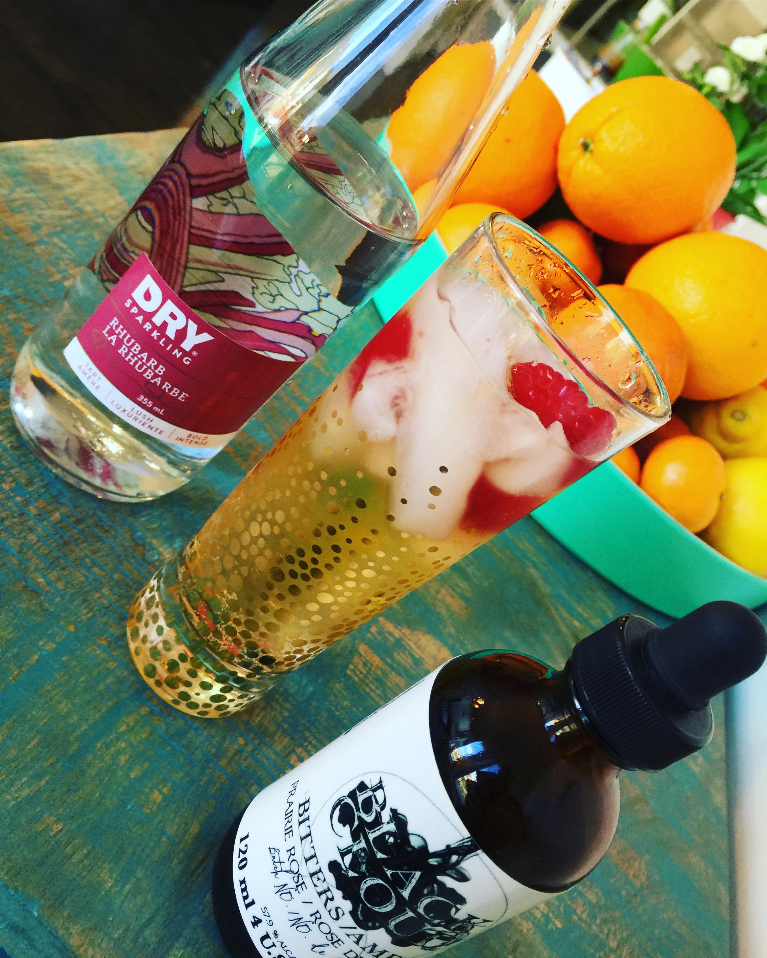 Rhubard and Cedar Soda