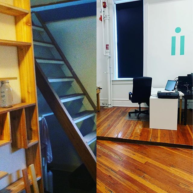 #howdidagehityouchallenge #2013 to #2019 from a small #loft to a full force #office 🤘#design #graphicdesign #studio #entrepreneur #entrepreneurlife #womenentrepreneurs #strathcona #gastown #vancouver #britishcolumbia