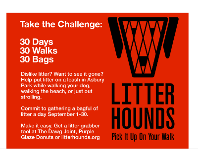 Upload your pics to social media and tag them #30DayLitterChallenge