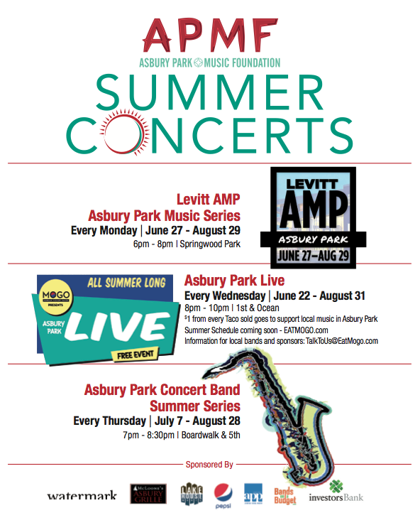 asbury park music foundation's free summer concerts series