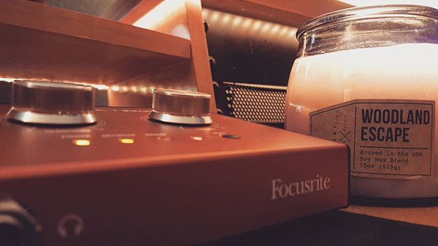 It's that pine tree forest candle time of year at Storm Town Studios. We're cozying down with some warm mixes by the fire. #focusrite #rednet #am2