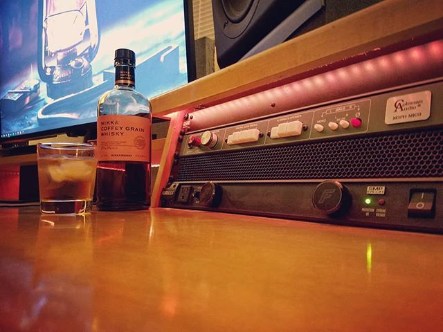 Friday night and the work is done, the homework is done, and the reference mixes are bounced. Good time as any for a celebratory glass of #nikkacoffeygrain . What are you having?