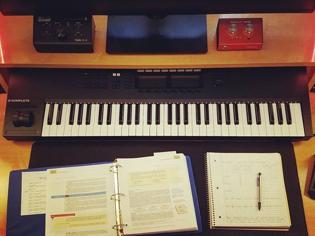 Doing what I have to do 📚✏️📑📖 in order to spend more time doing what I want to do 🎛️🎚️🎹🎚️🎛️