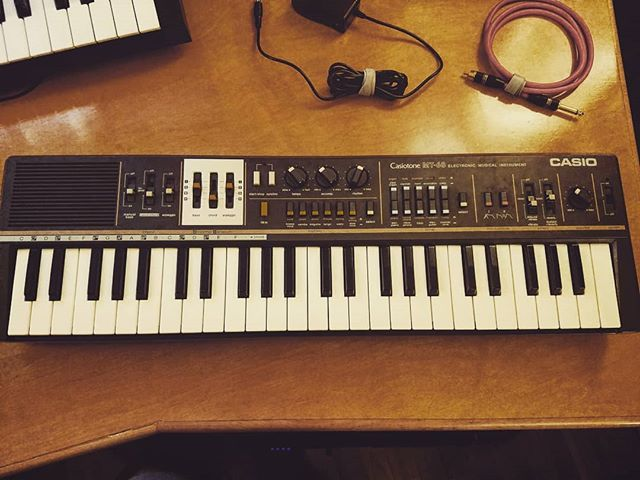 Pictured: thrift store treasure hunting yeilds a Casio Casiotone MT-68. This little fella is on his way to Nashville after having been meticulously refurbished, cleaned, tested, and sold for $440