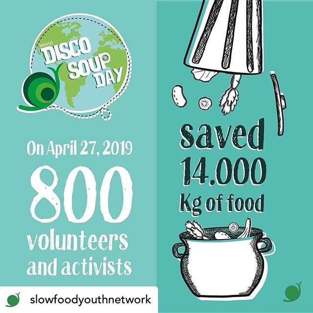 Pretty impressive impact report on World Disco Soup Day 2019 from @slowfoodyouthnetwork! #slowfood #worlddiscosoupday #goodcleanfair