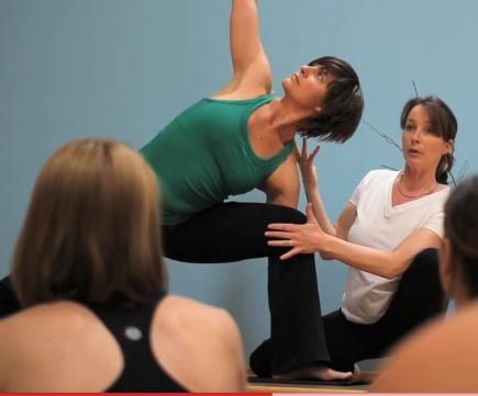 Modeling ExtendedSide Angle Pose for Birgitte Kristen (Yoga Works)