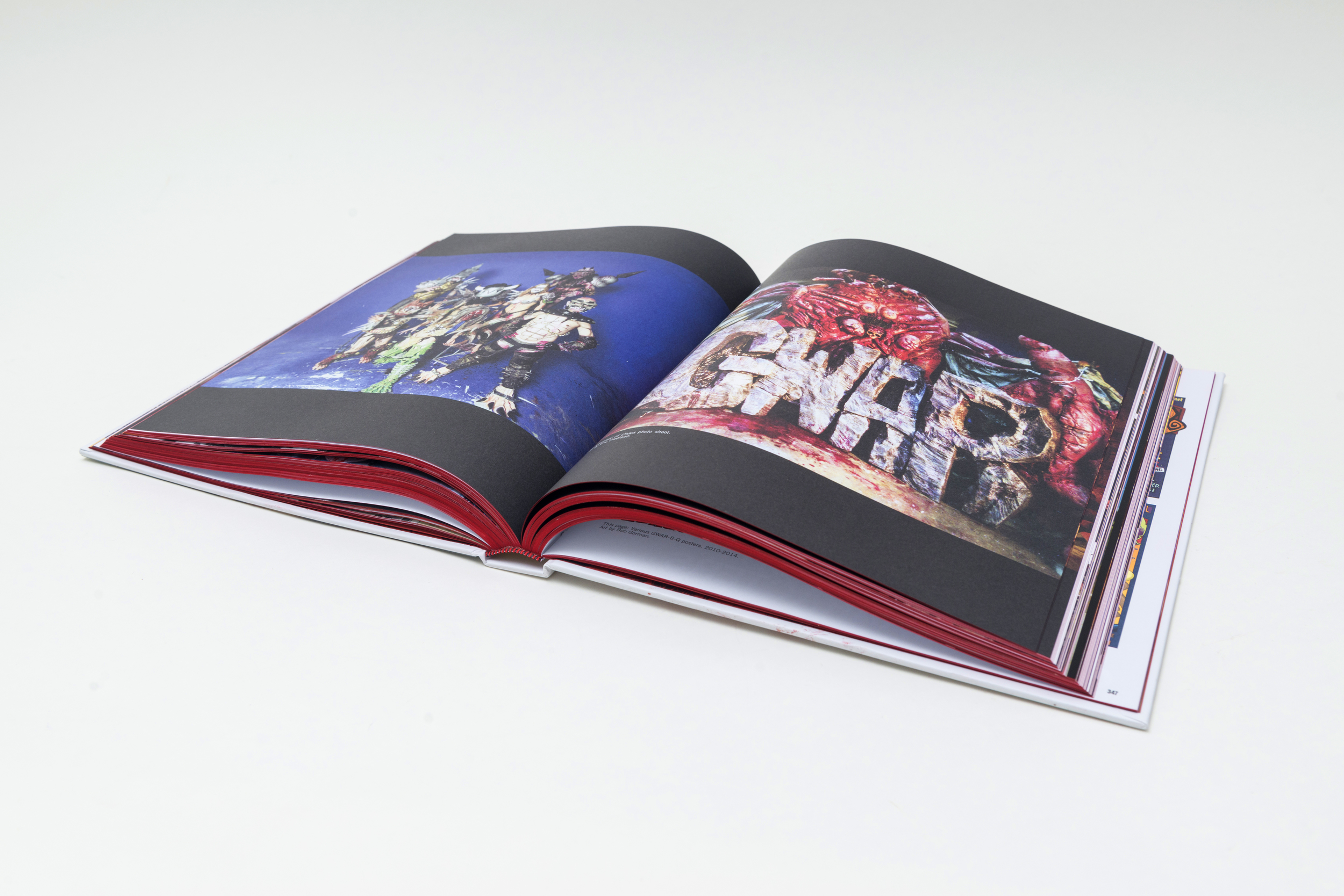 GWAR book spread