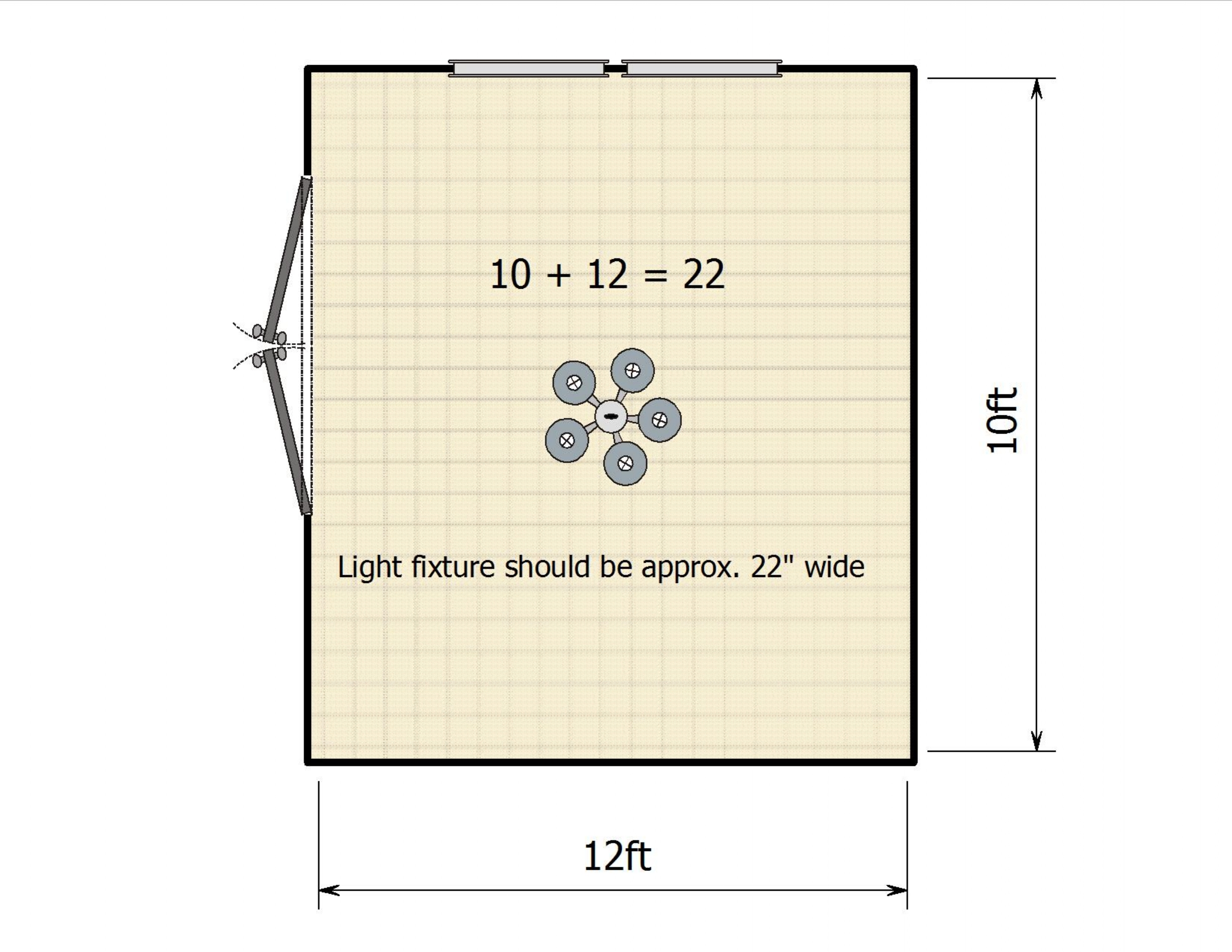 How to calculate your light fixture size