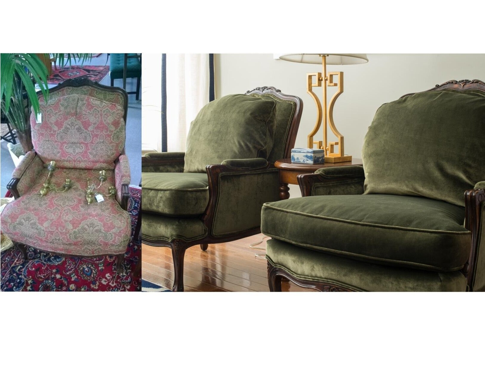 French Style Bergere Chairs by First impressions