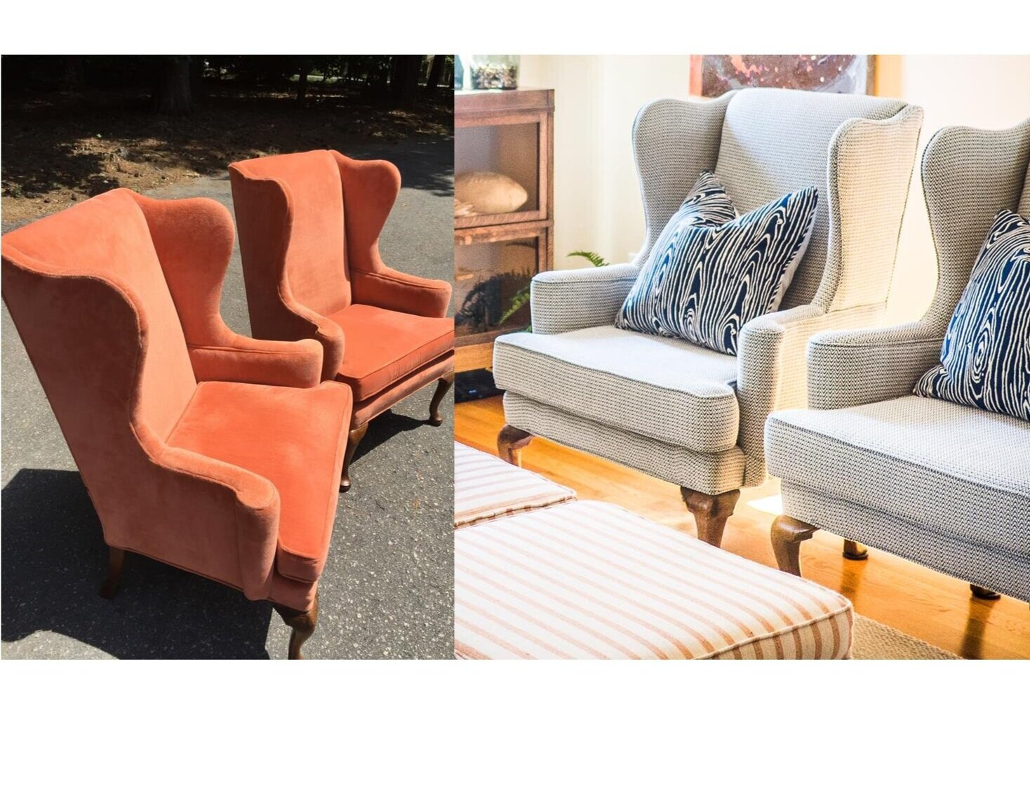 American Style Wing Back Chairs by First Impressions