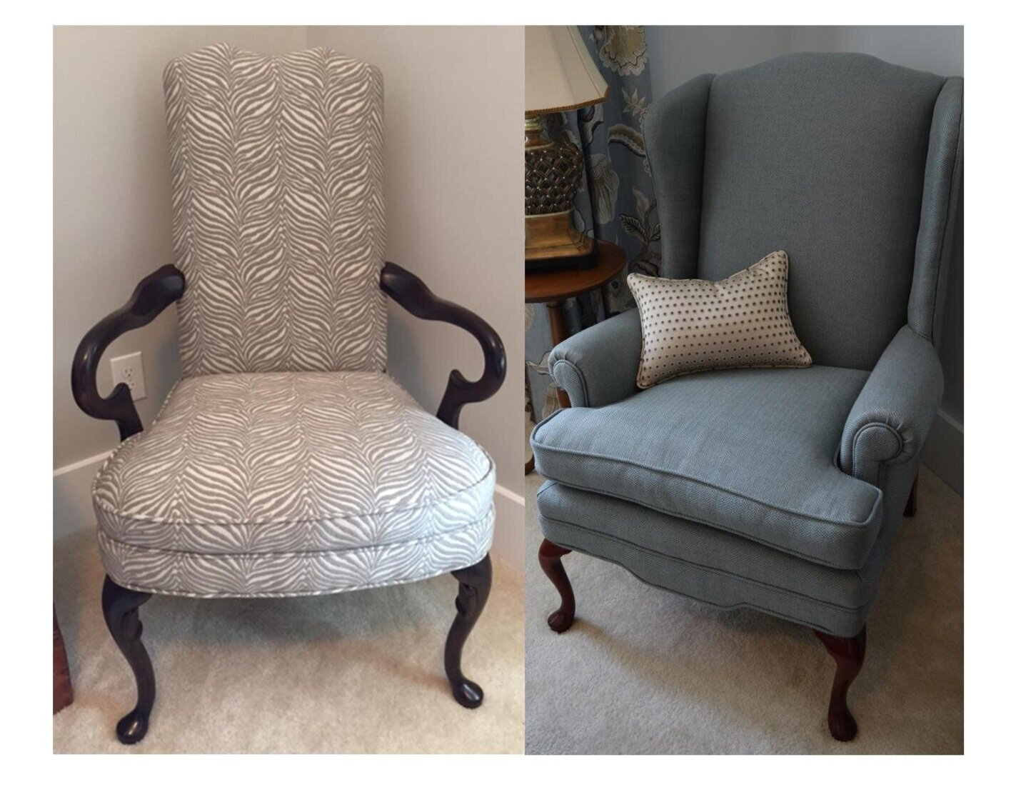 Antique Martha Washington & Wing Back Chairs by First Impressions
