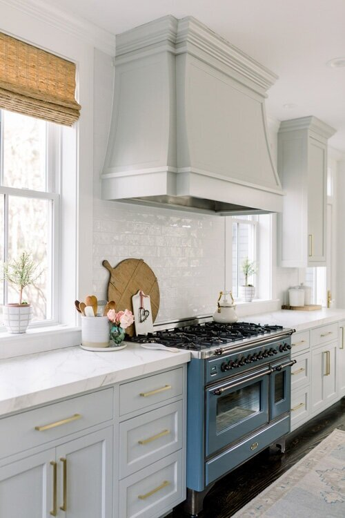 Repose Grey on kitchen cabinets - findinglovely.com