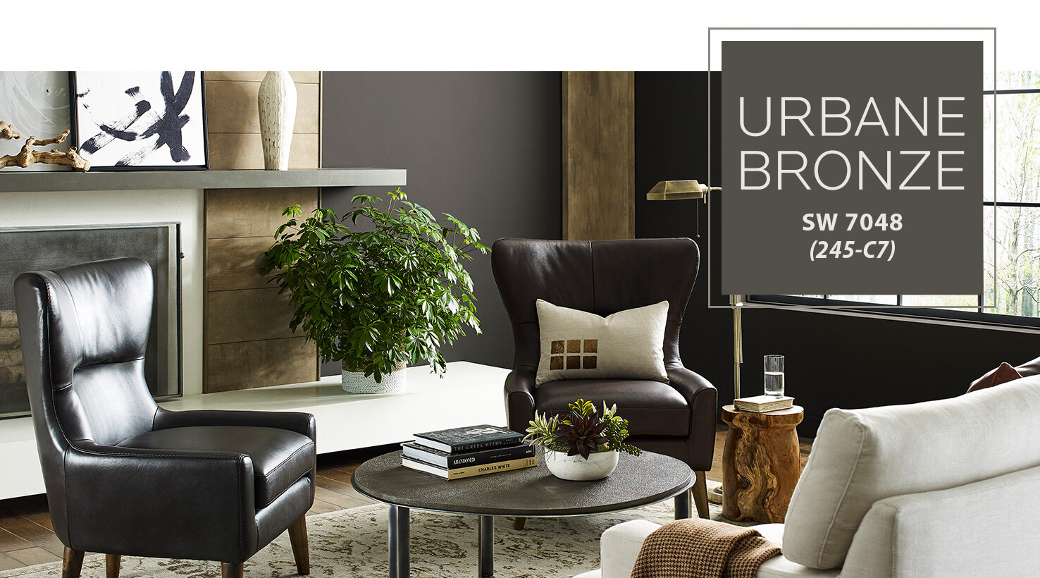 Urban Bronze in contemporary living room. Photo via Sherwin Williams.com