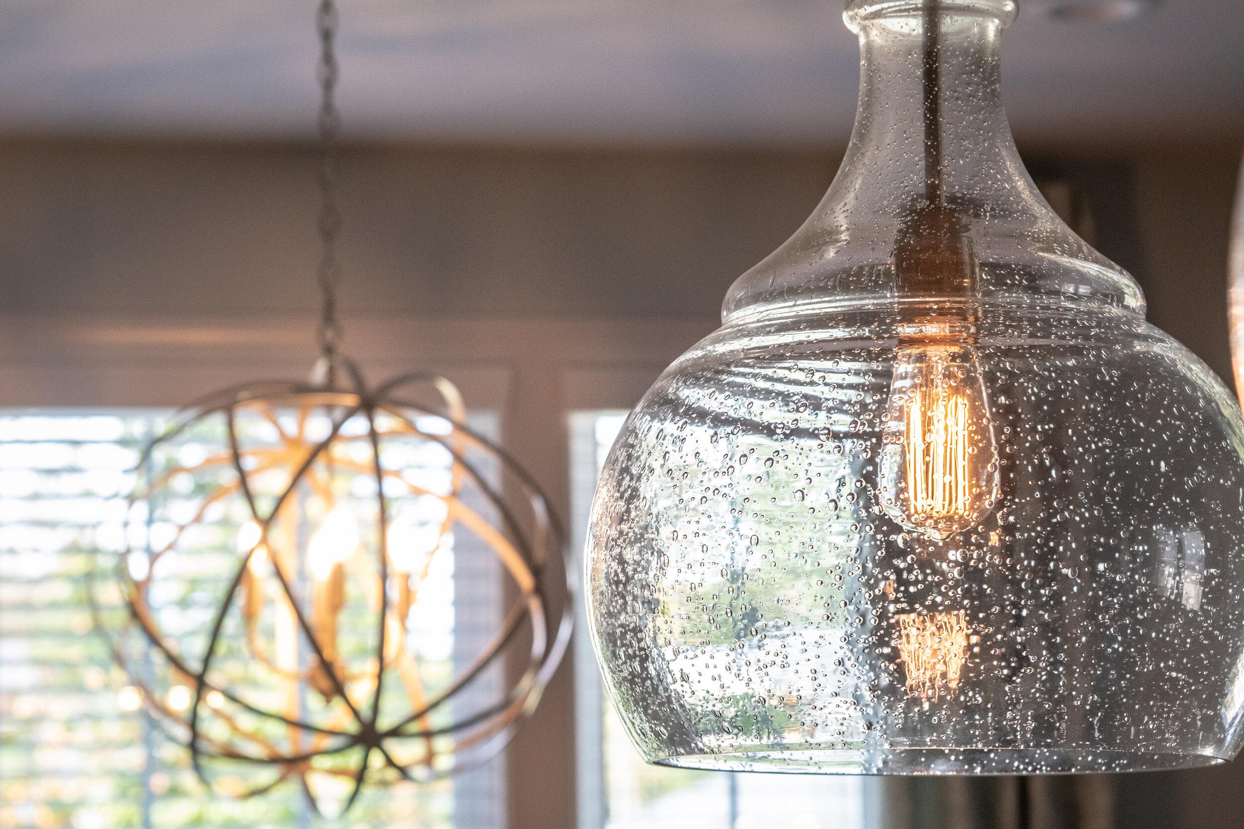 First Impressions oversize light fixture