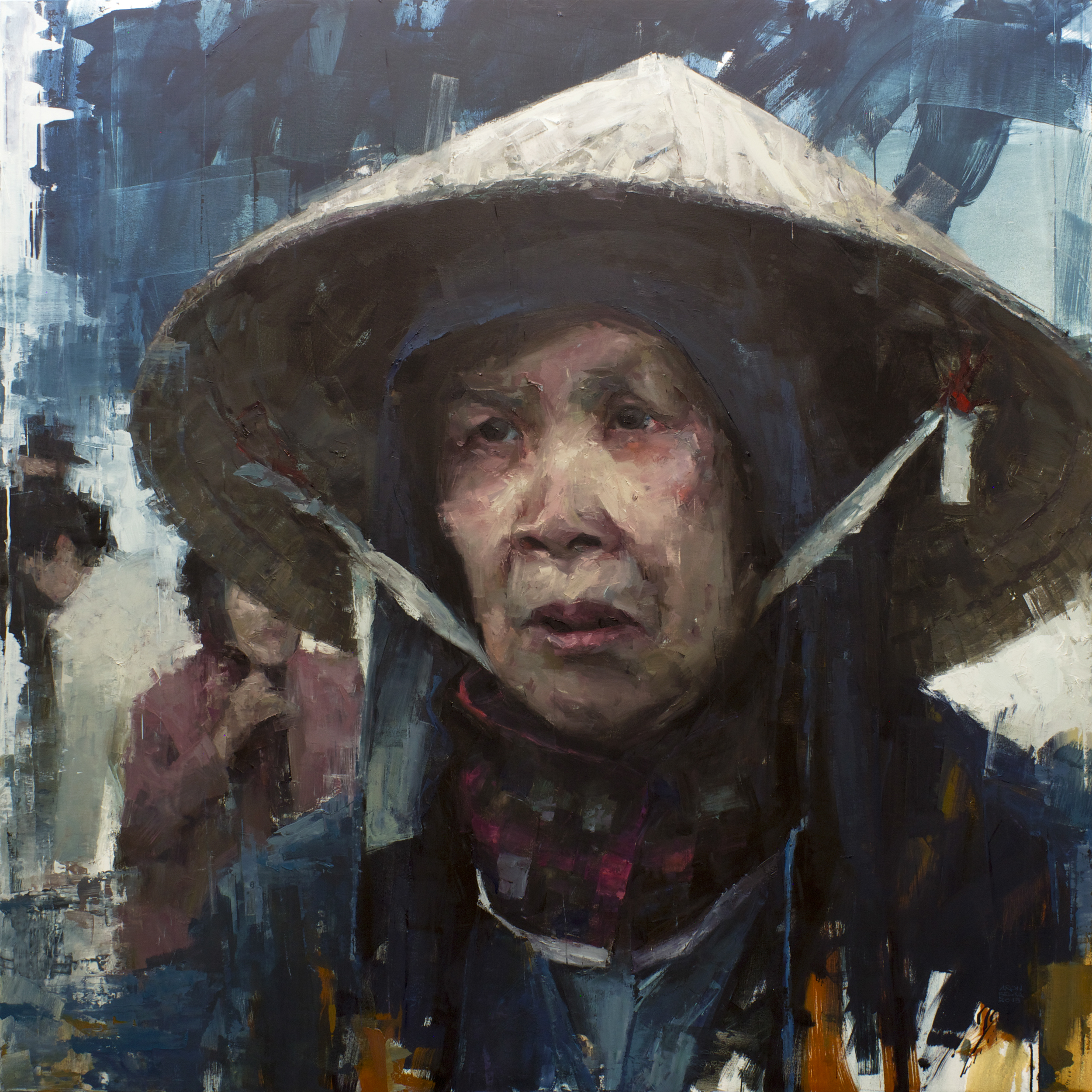 Market Woman    2015 72 x 72 inches   oil on canvas