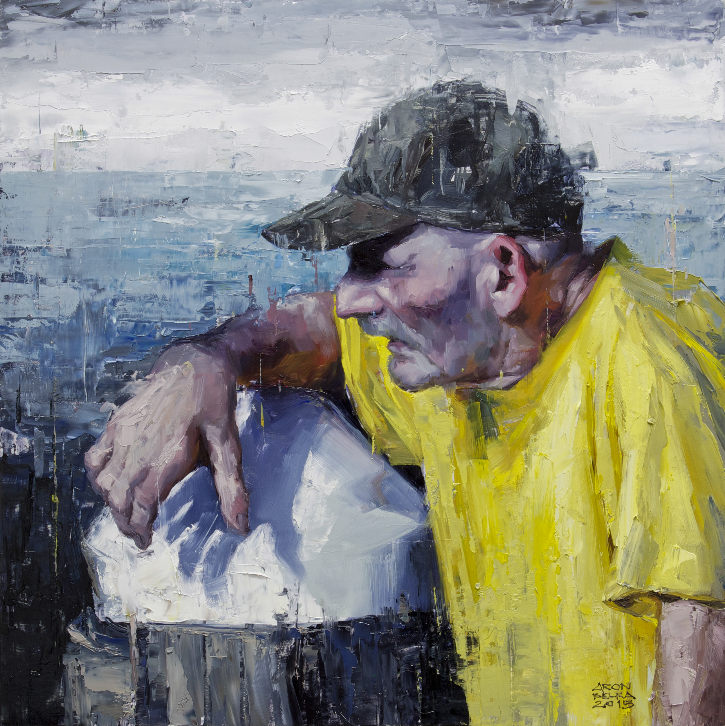 The Old Man and the Sea    2015 18 x 18 inches   oil on wood