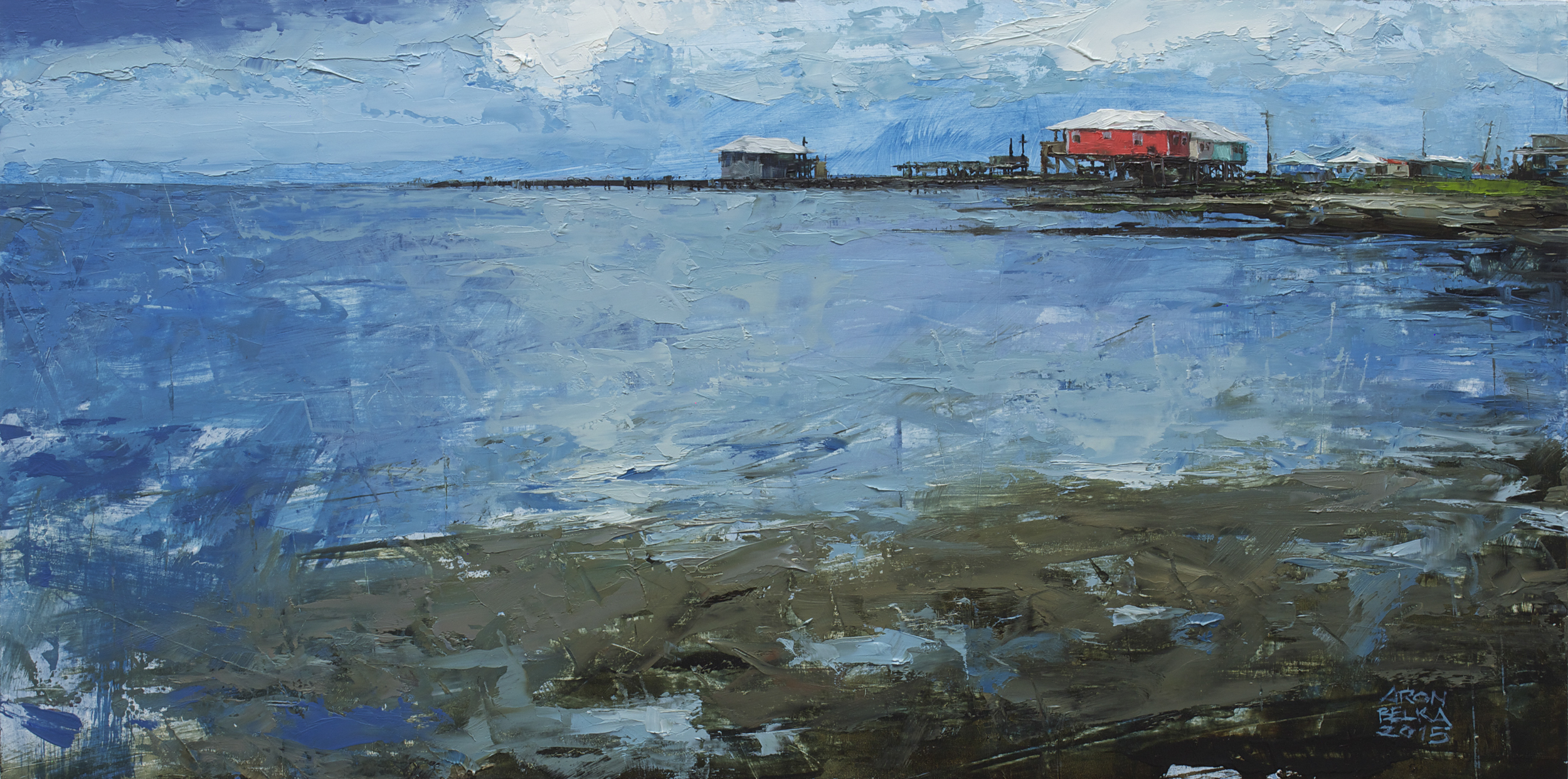 Grand Isle    2015 10 x 20 inches   oil on wood