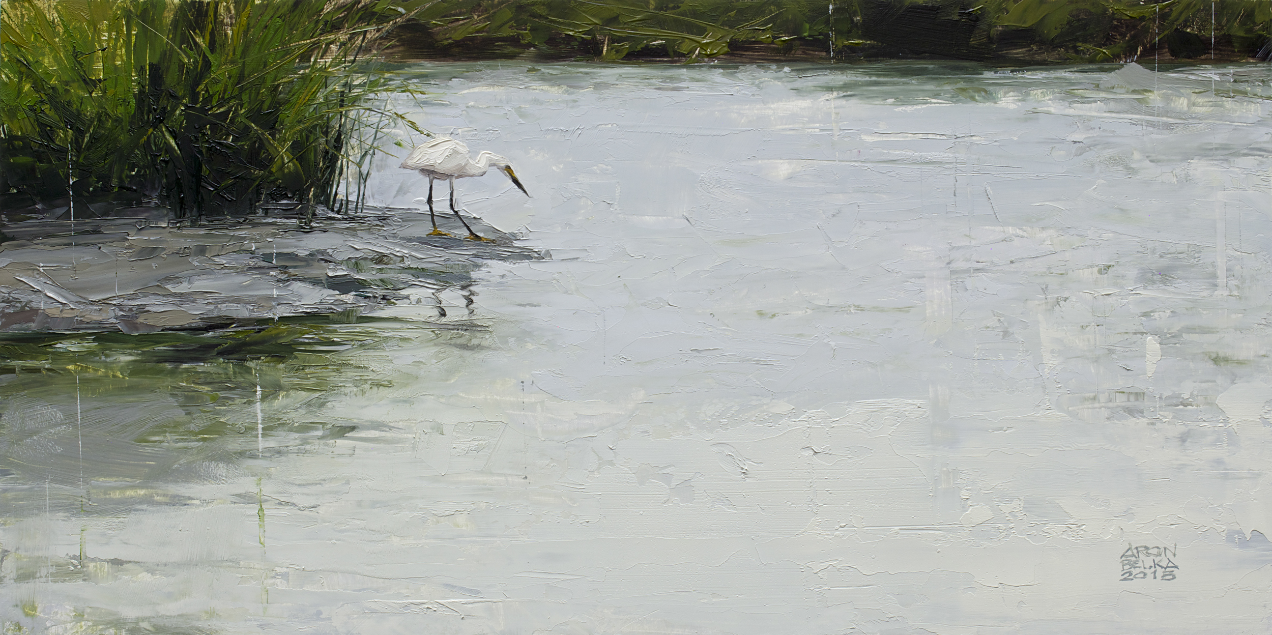 Bayou Moreau    2015 10 x 20 inches   oil on wood