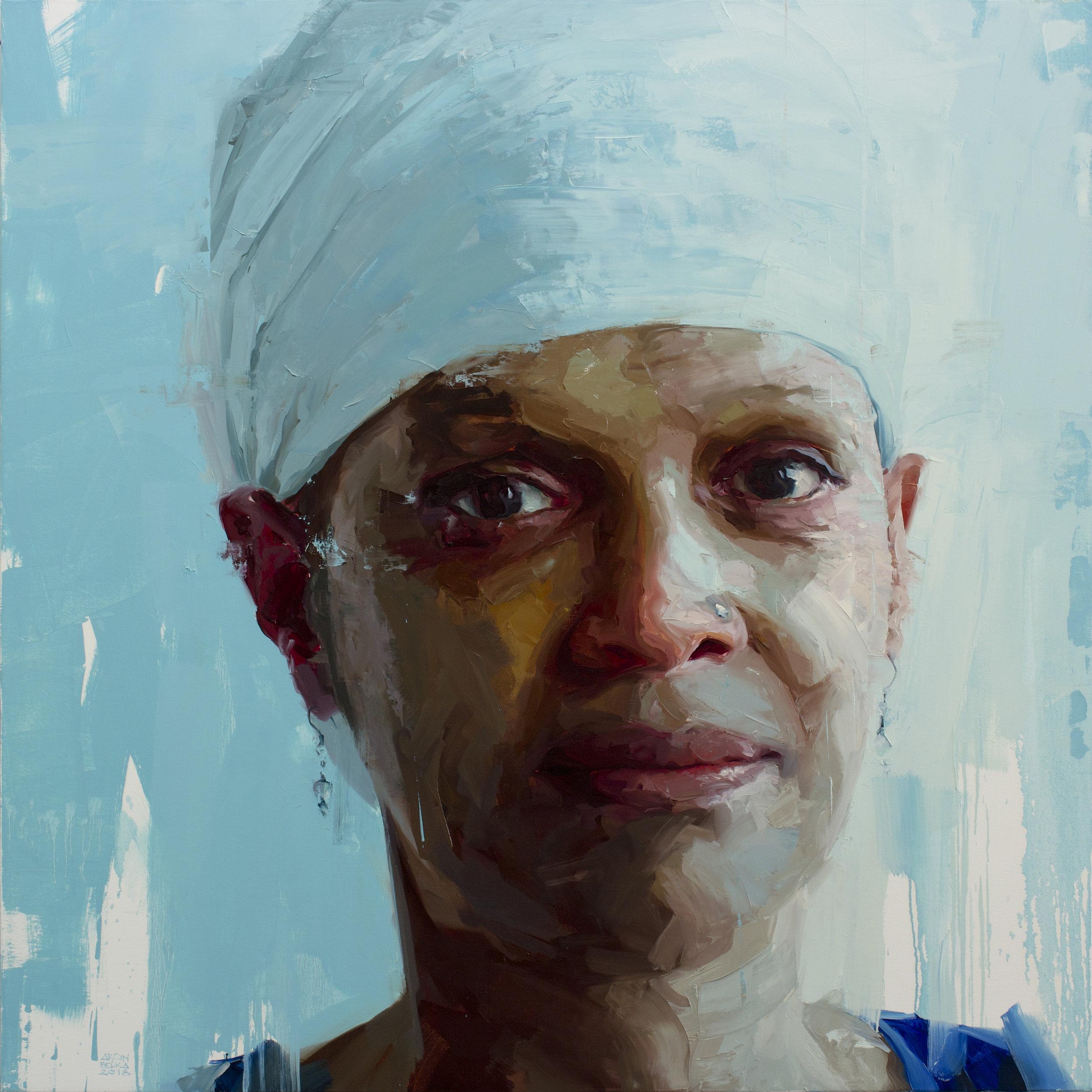 Aisha Patrice   2018 48 x 48 inches   oil on canvas