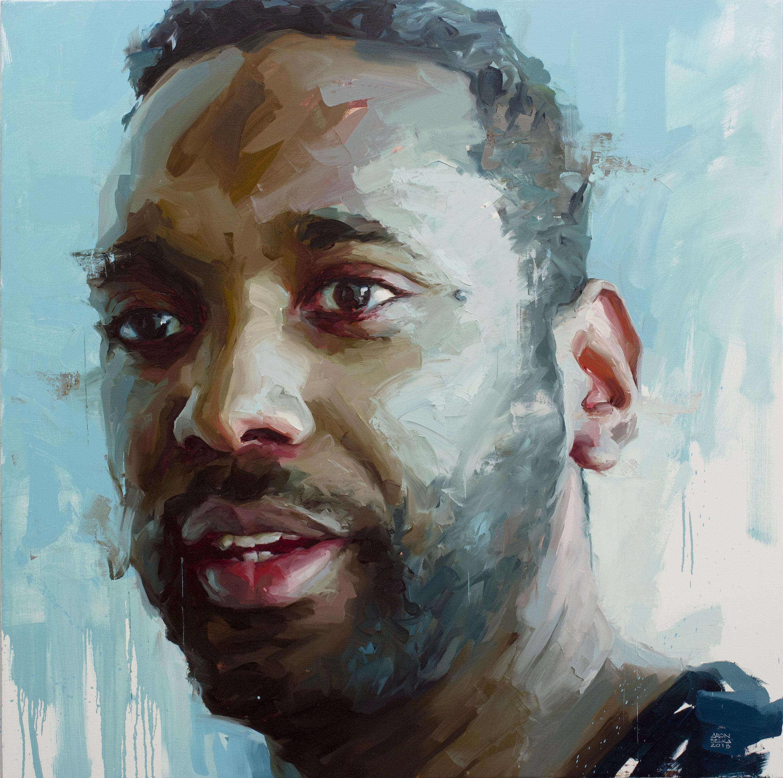 John Isiah Walton   2018 48 x 48 inches   oil on canvas