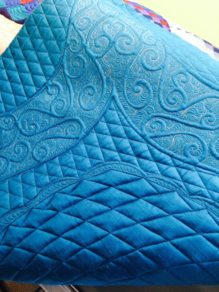 Back of customer quilt
