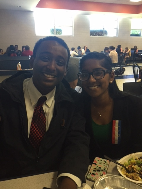 Our two speech semifinalists - Sam and Bharathi!